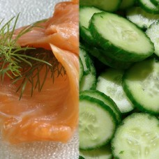 Smoked Salmon and Cucumber