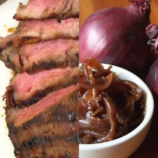 Steak and Caramelised Red Onion Chutney